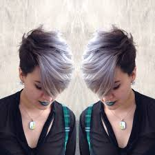 funky hairstyle for silver hair image result for pixie cut with silver hair ideas pinterest