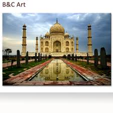wholesale popular indian landscape taj mahal painting for indian