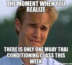 Muay Thai Memes - the moment when you realize there is only one muay thai