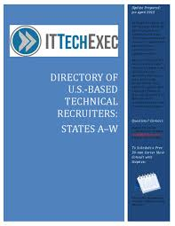 Senior Technical Recruiter Resume Find Technical Recruiters In An Instant