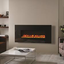 gazco radiance 100w black glass electric wall mounted fire with