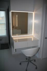 Bathroom Mirrors Led Bathroom Mirror With Led Lightning Aluminum Glass Cabinet Doors