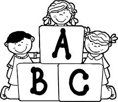 funny children abc coloring page wecoloringpage