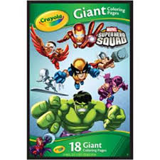 crayola marvel super hero squad giant coloring pages 18 pages