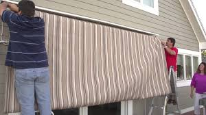 Sunchaser Awnings Replacement Fabric Replacing A Retractable Awning U0027s Fabric Removal U0026 Installation
