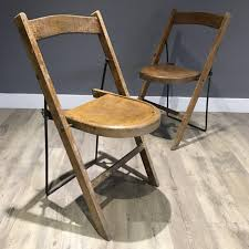 Stakmore Folding Chairs Vintage Twisted Rod Stool Wood And Metal U2014 Patina Designers And Makers