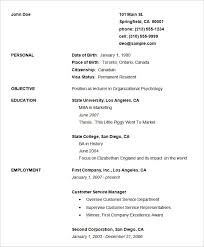 simple resume outline free basic resume template free world of letter format