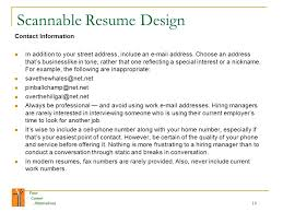Scannable Resume Your Career Alternatives 1 Your Career Alternatives Welcome To The