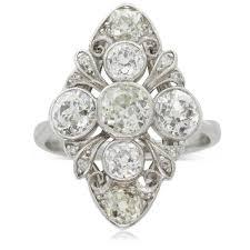 platinum vintage rings images Vintage platinum 18ct white gold diamond art deco ring walker jpg