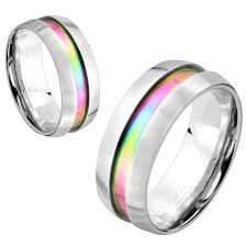 8mm ring stainless steel ring 8mm wide unisex band