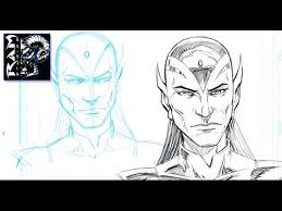 how to sketch a character for comics drawing process in