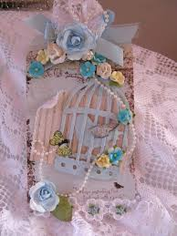 martica designs blue bird cage tag so very shabby chic