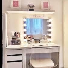 cheap white vanity desk bestrice acrylic makeup organizer jewelry display boxes bathroom