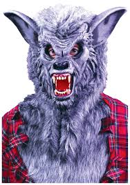 wolf halloween costumes grey werewolf mask