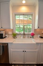 Kitchen Cabinets Northern Virginia White Cabinets Farmhouse Style Sink And Cambria Torquay Counters