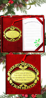 merry christmas from heaven merry christmas from heaven gold ornament