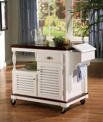 wood kitchen island cart coaster 910013 chefs helper white finish wood kitchen island cart