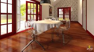 onerender red dining room