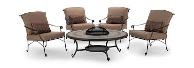 Outdoor Furniture Minneapolis by Camden 5 Piece Fire Table Chat Set Dock86 Spend A Good Deal