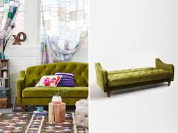 Green Velvet Tufted Sofa by Snoozing In Style U2013 Sleeper Chairs And Sofas With Remarkable Designs