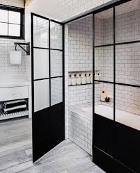 Moroccan Tiles Very Low Bath by Gorgeous Copper Pipes Shower Head White Subway Tile With Dark