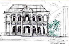 architecture sketch u2013 old public library port of spain trinidad