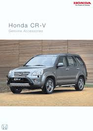 honda cr v mk2 euro accessory brochure 2004 honda cr honda and