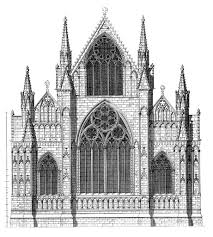 medieval lincoln minster plans and drawings dehio plate 444 elevation of east end