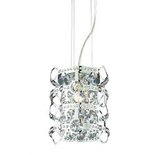 mini drum pendant lighting shop style selections kentley 8 in w chrome pendant light with metal
