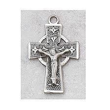 celtic crucifix celtic crucifix medal l8084 stella maris books