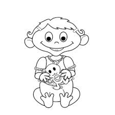 coloring clipart image baby teddy bear coloring