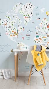 educational wallpapers the perfect ideas for your kid s bedroom graph paper blue map wall mural