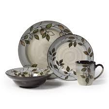 pfaltzgraff everyday rustic leaves 16 pc dinnerware set hayneedle