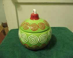 ornament cookie jar etsy
