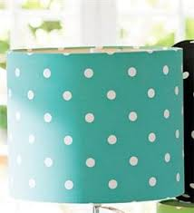 pottery barn pb teen dottie polka dot table lamp shade pool blue