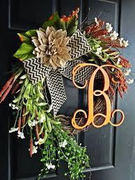 Door Monogram Decoration Best 25 Initial Door Wreaths Ideas On Pinterest Letter Door