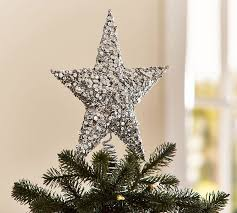 sequined tree topper pottery barn