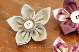 How To Make Flower Hair Clips - fun fabric flowers