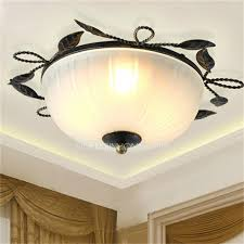 wrought iron flush mount lighting iron material country style flush mount ceiling light