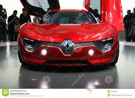 renault dezir concept renault dezir electric car at paris motor show editorial stock