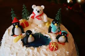 Christmas Cake Decorations Marzipan by Lauralovescakes Penguin Party Christmas Cake