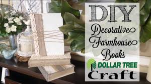 Pinterest Dollar Tree Crafts by Diy Decorative Farmhouse Books Dollar Tree Craft Youtube