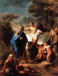 pompeo batoni venus presenting aeneas with armour forged by vulcan tags aeneid