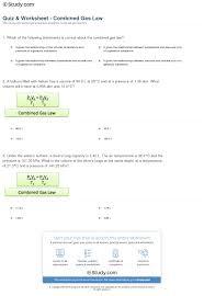 quiz u0026 worksheet combined gas law study com