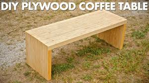diy plywood coffee table made with one sheet of plywood
