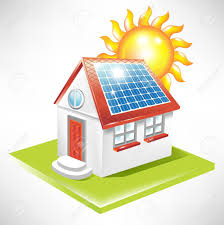 house with solar panel alternative energy icon royalty free