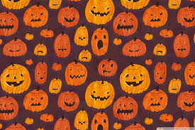 halloween pumpkins pattern hd desktop wallpaper high definition