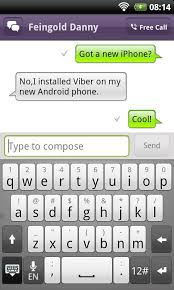 text android viber for android goes live free to via android market