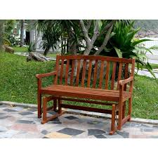 Garden Bench Hardwood Merry Products Acacia Hardwood Glider Bench Free Shipping Today