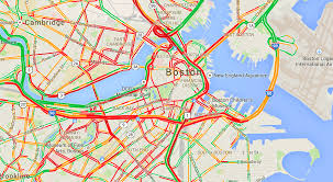 traffic map boston traffic update removal gridlocks city closes i93